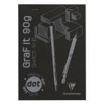 Bloc de papier GraF'it DOT avec repère 90 g/m² 80 Fles - 14,8 x 21 cm (A5)