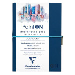 Carnet Paint'On papier à grain Blanc 250 g/m² A5 32 F
