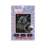 Carte à gratter Scraper holographique Kawaii Narval rieur