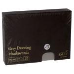 Carte Haïku papier Dessin gris 325 g/m² x 24 F 14,7 x 10,6 cm