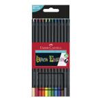 Crayons de couleurs Black edition 12 pcs