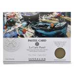 Papier Pastel Card Pochette Gris clair 6F 30 x 40 cm
