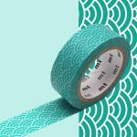 Masking Tape 1P Seigaihamon hisui 15 mm x 7 m