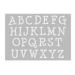 Pochoir Alphabet A4