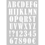 Pochoir Alphabet et chiffres A3
