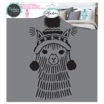 Pochoir textile Lama - 28 x 28 cm